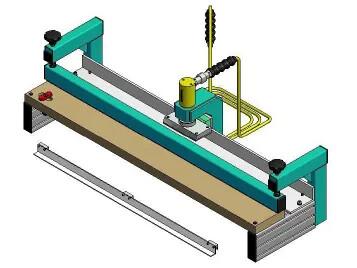 Punch press for Z-splices (pneumo-hydraulic)