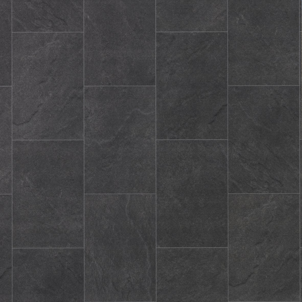 Black stone tile flooring