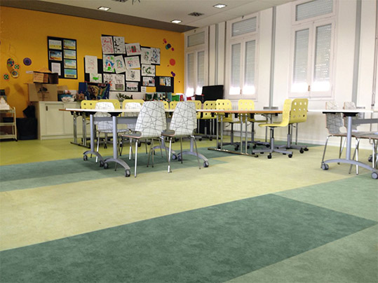 Flotex Colour flocked flooring - classroom