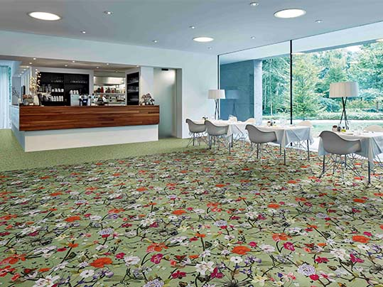 Flotex Vision flocked flooring - bars and restaurants
