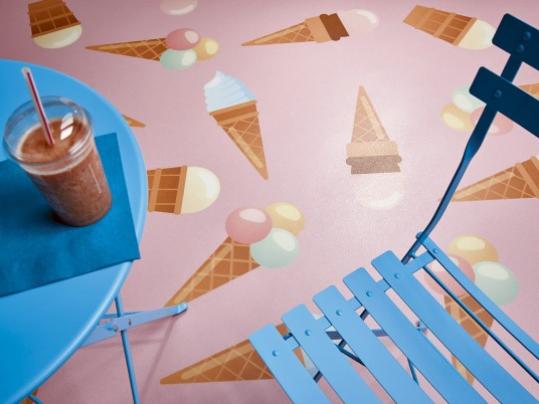 Step Digital Print ice cream
