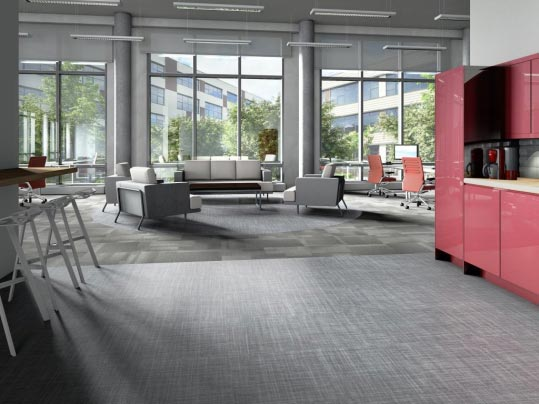 Allura Flex 1664 graphite weave & Tessera Mix 955 grit – commercial offices