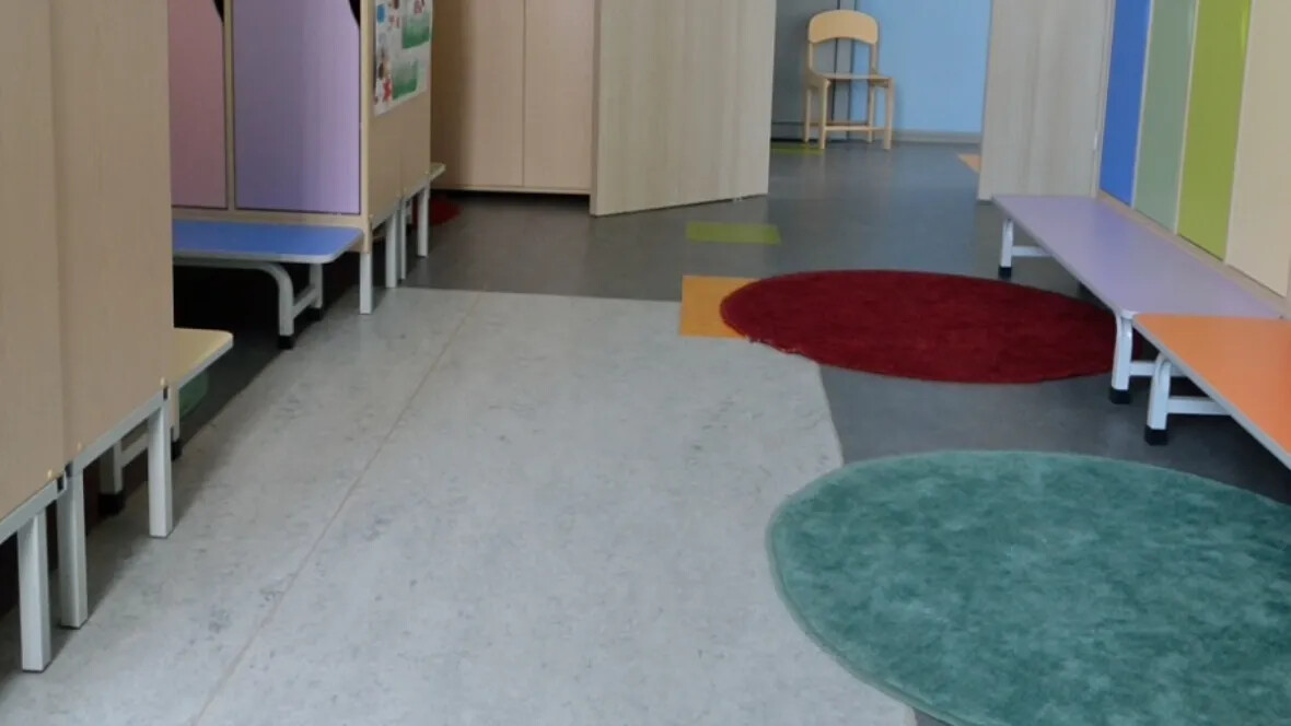 Changing rooms in Kindergarten