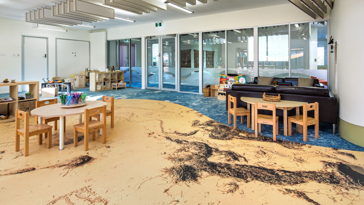 Digitally printed vinyl in the Education segment: Aldinga Beach Chlidrens's centre