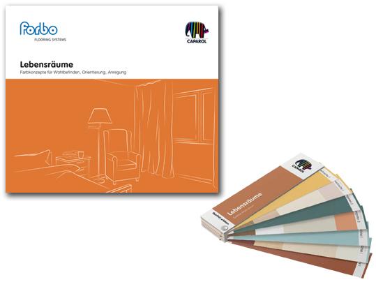 Lebensräume Broschüre und Farbfächer