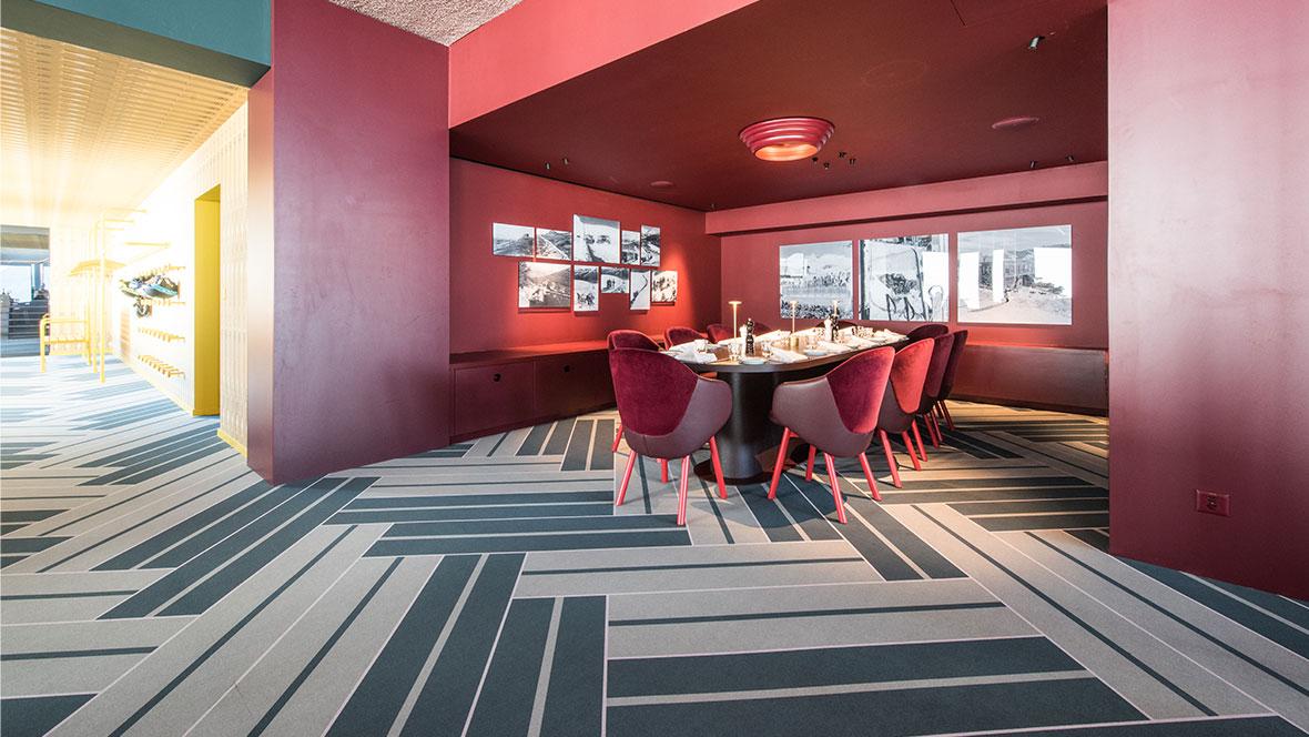 White Marmot-Restaurant Flotex Vision Bespoke Design