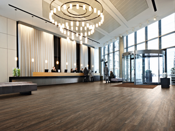 Hotel Flooring - Hospitality Sector - Vinyl wood planks