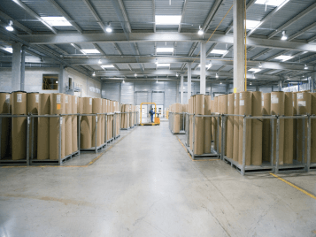 Rolles in warehouse