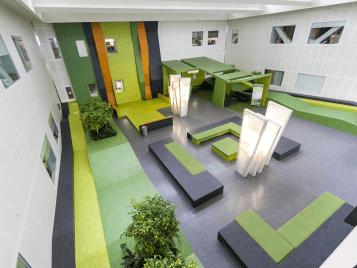 waikato hospital - marmoleum flooring