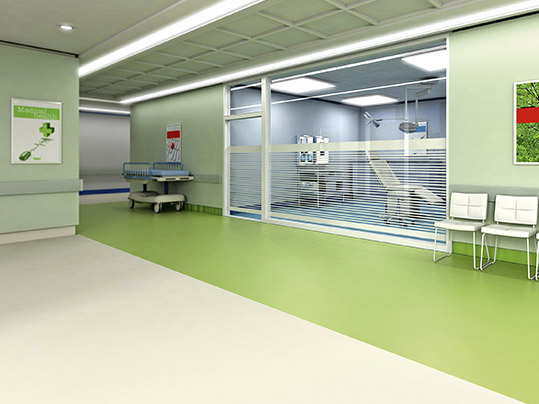 Acoustic flooring for general circulation areas