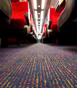 Tessera FR carpet - East Midlands Trains - Rail Flooring