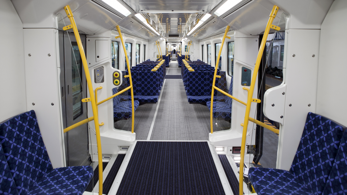 Transport flooring for Rail
