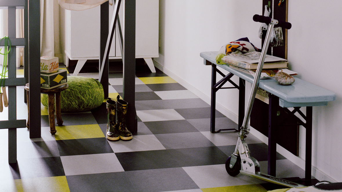 Marmoleum click tile flooring eco building products - Forbo marmoleum click ...