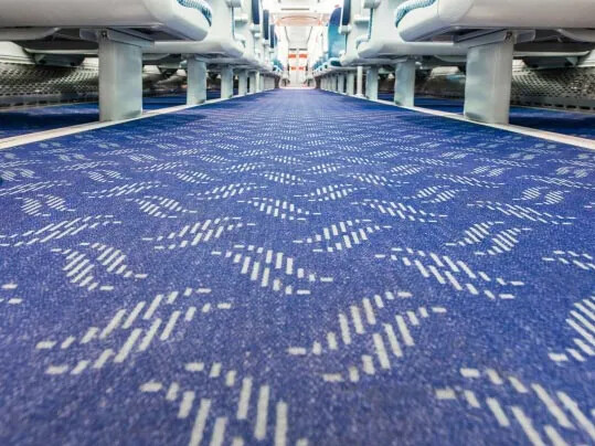Translink NI Railways - Flotex FR rail flooring