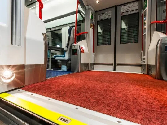 Translink NI Railways Coral Entrance Mat fra Forbo Flooring Systems