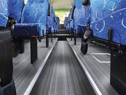 Flotex carpet for buses