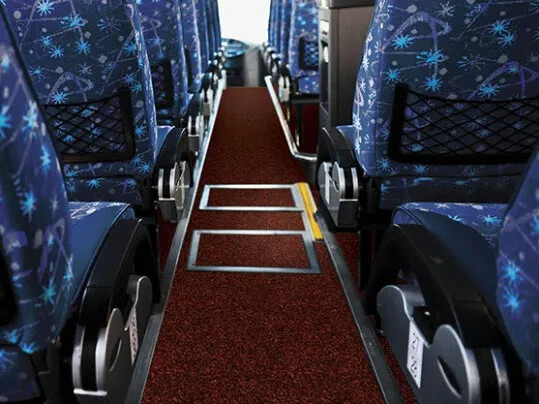 Coral entrance matting for buses