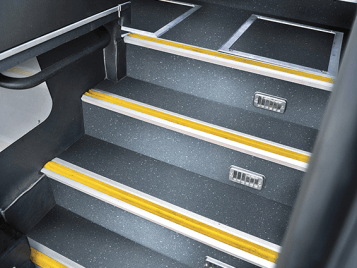 Bus & autocars - sol PVC Step safety