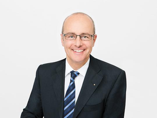 Porträtaufnahme von Vincent Studer, Mitglied des Verwaltungsrats bei Forbo