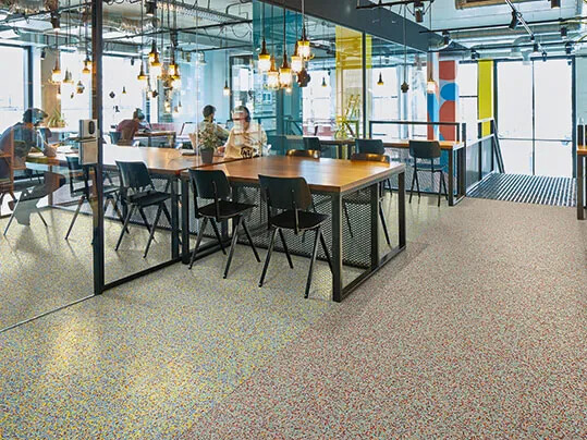 Two different types of Fabscrap floors