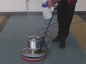 Marmoleum Spray Burnishing