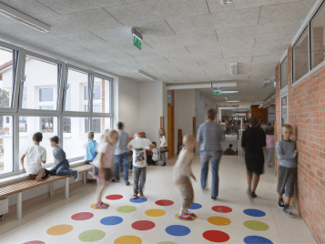 Marmoleum flooring for schools