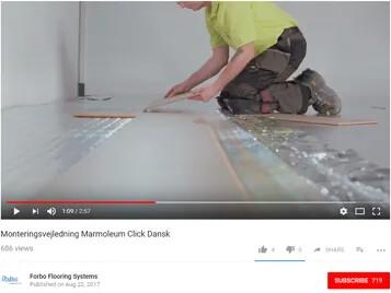 Monteringsvejledning Marmoleum Click