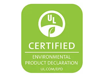UL certified environmental product declaration