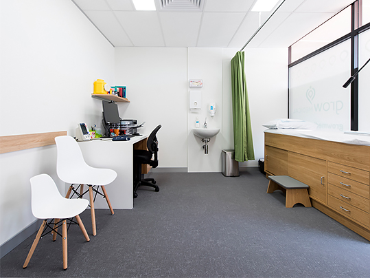 Grow medical centre - flotex tiles
