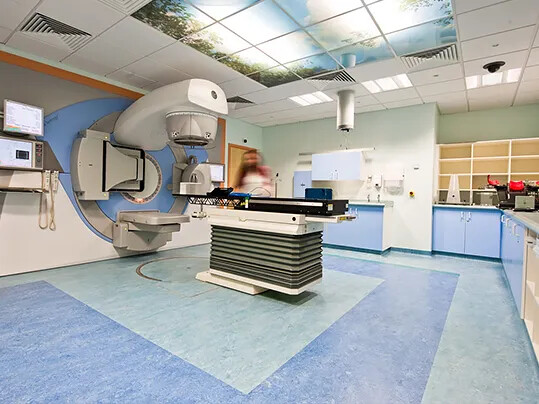 The Christie radiotherapy facility - marmoleum