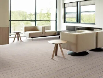 Flotex combines the hard wearing and durable characteristics of a resilient floor with the quality, warmth and comfort of a carpet.
