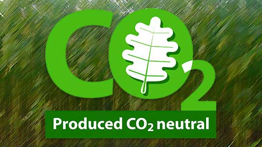 Jute mit CO2 Logo