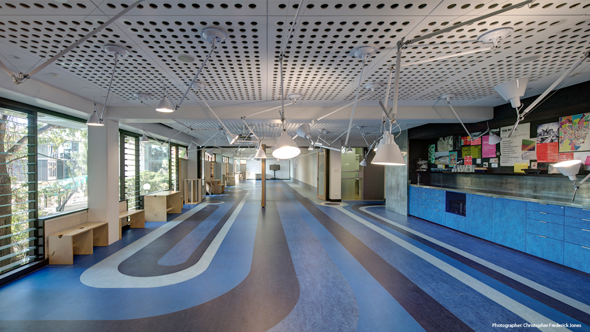 UQ School of Architecture QLD - Marmoleum flooring