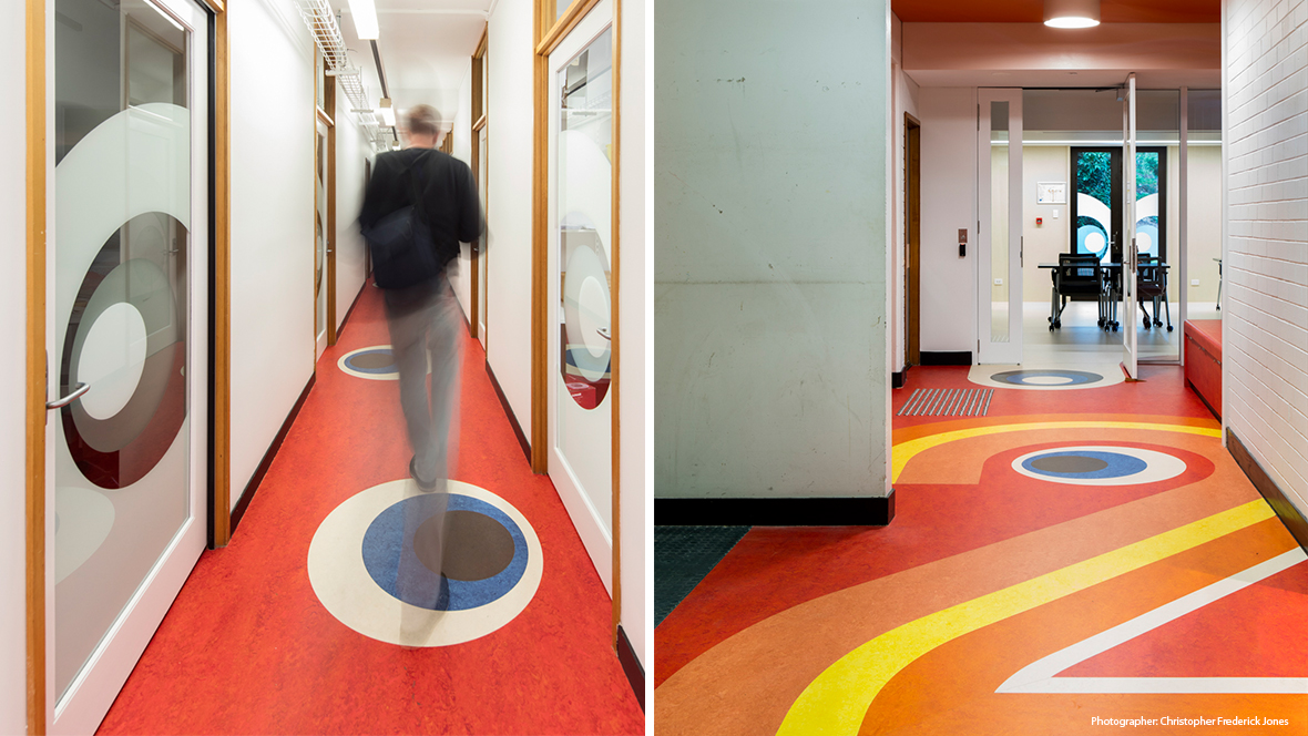 UQ School of Archcitecture QLD - Marmoleum flooring