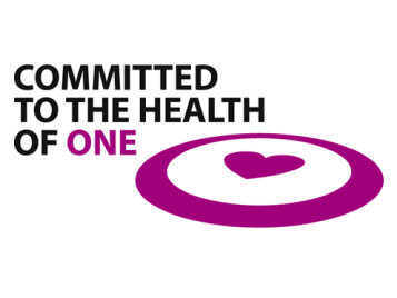 "Logo for ""committed to the Health of One"""