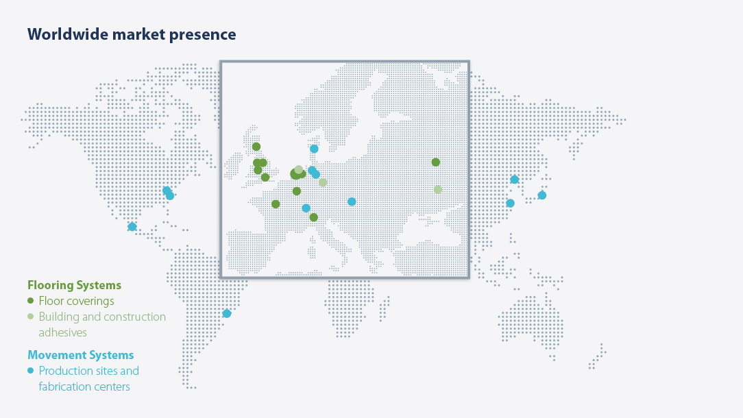 Forbo presence worldwide 2015