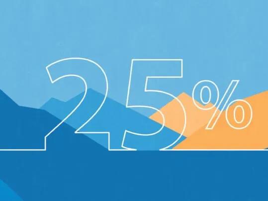 Minska vår miljöpåverkan med 25 %