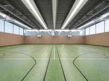 Marmoleum Sport linoleum flooring