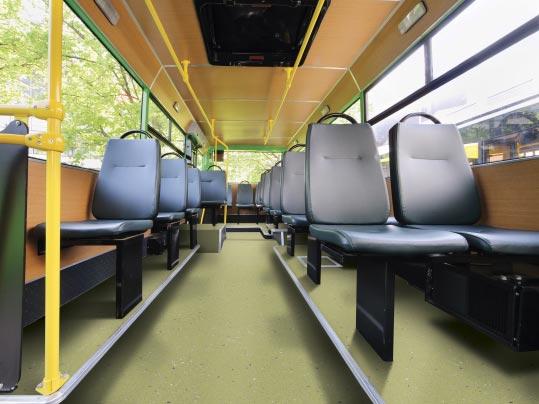 bus wnętrze - wykładziny forbo w przemyle transportowym