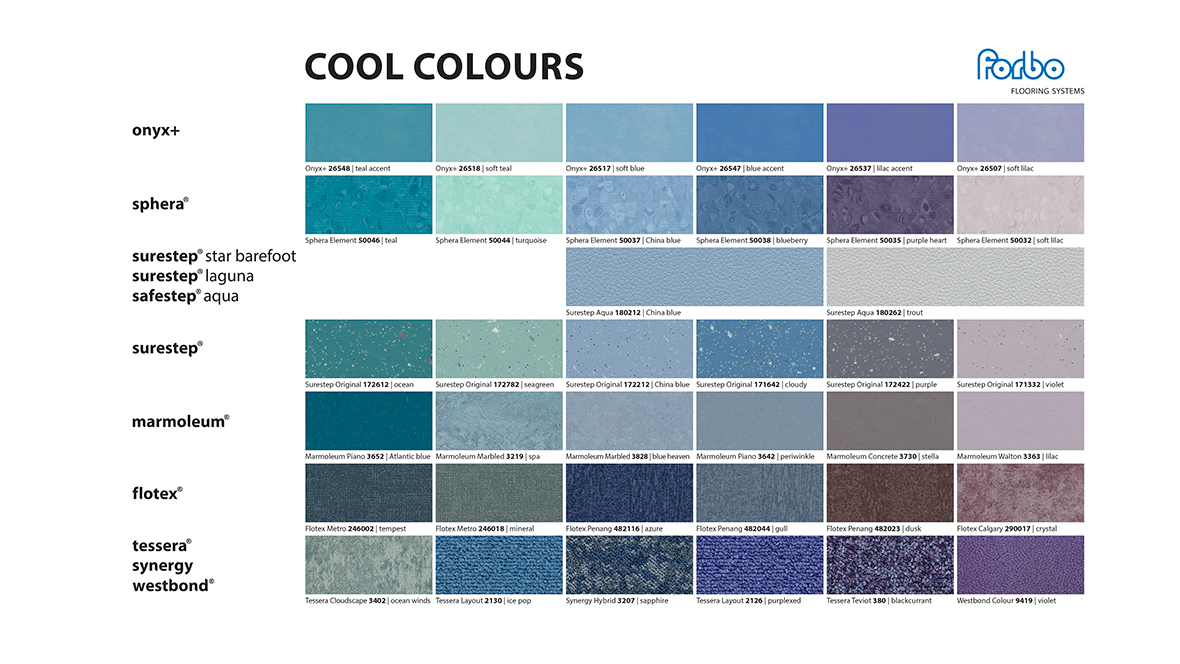 Cool Colours Mood Board 2