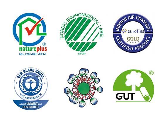 Forbo Umwelt-Zertifizierungen weltweit