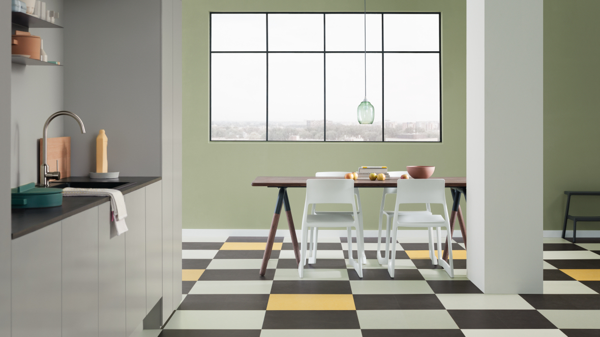 New collection: Marmoleum Click linoleum panels
