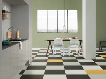 Marmoleum Click tiles: great design possibilities