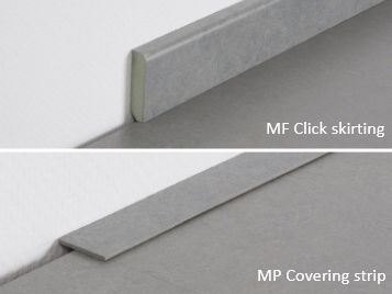 Marmoleum Click skirting & strip