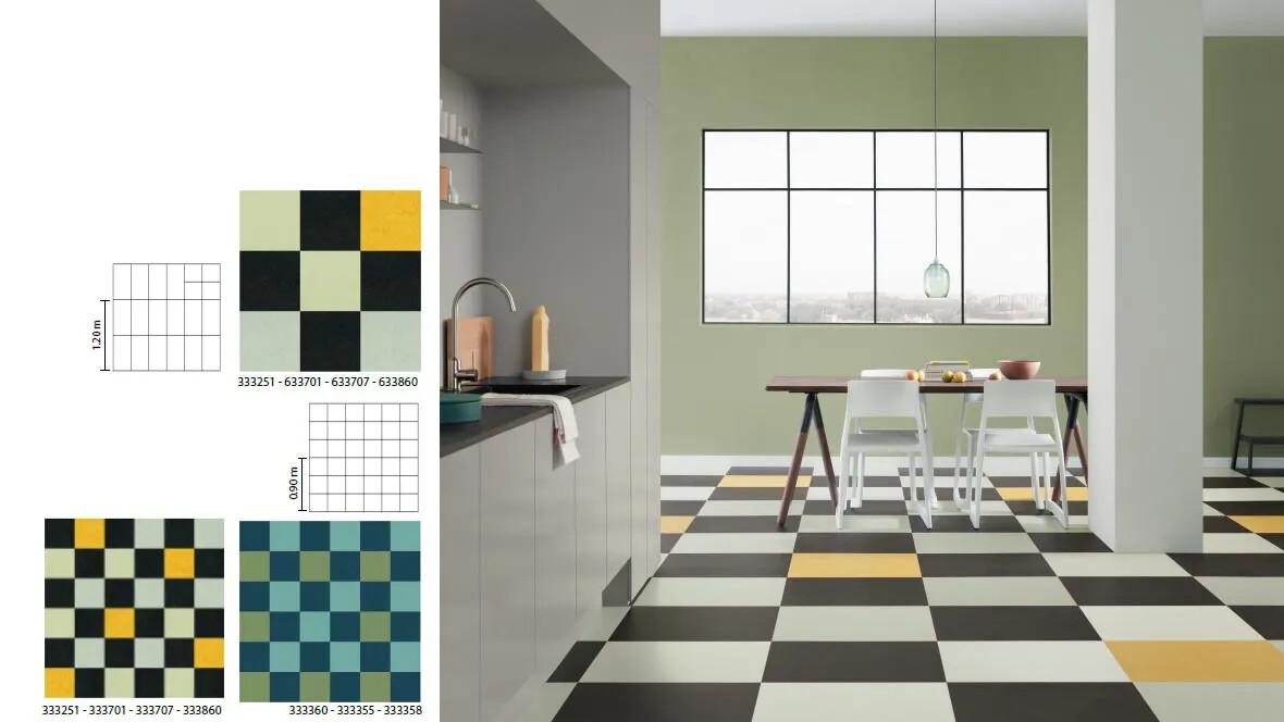Marmoleum Click desenleri - mutfak