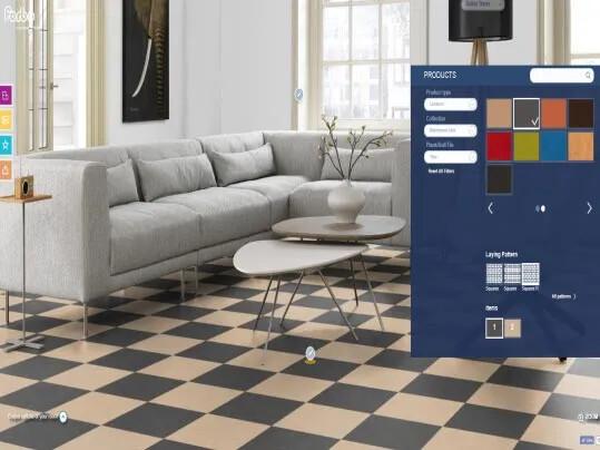 Marmoleum Click floorplanner