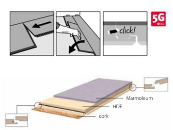 BE Marmoleum Click productopbouw