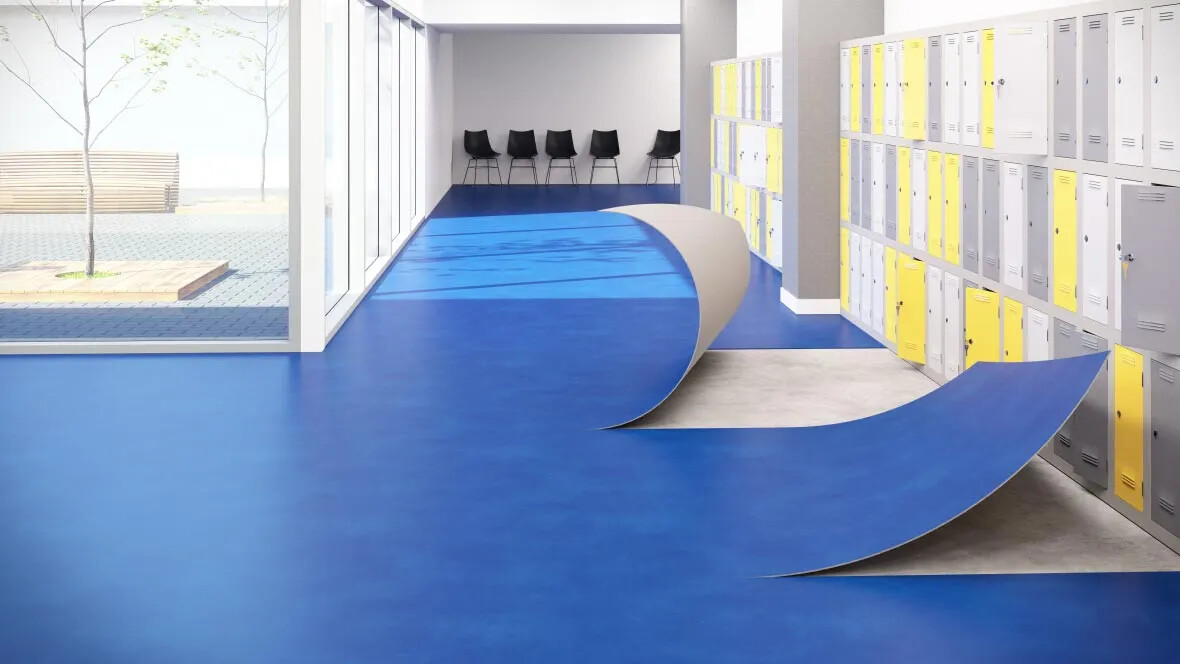 Revêtement de sol PVC professionnel fort trafic, pose sans colle | Forbo Flooring Systems