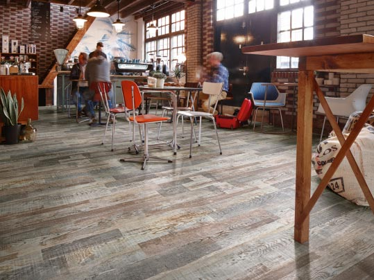 Eternal vinyl sheet flooring for restaurant