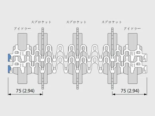sprocket and idler layout jp